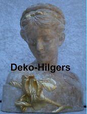 Büste Iris Kopf Figur Frau Stuckgips Skulptur Deko Statue Marmor Optik  2004