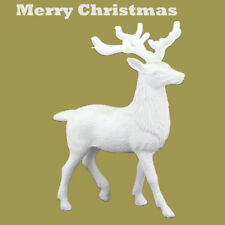 White Deer Christmas Xmas Reindeer Kid Doll Decor Home Decoration Party Ornament