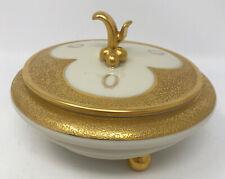Vintage Kolk Bavaria Germany Decorated California Golden Trim Serving Bowl Lid