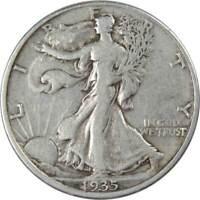 1935 50c Liberty Walking Silver Half Dollar US Coin F Fine