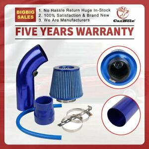"""Cold Air Intake System Filter Kit Assembly 3"""" Blue Pipe, Clamp, Accessory"""