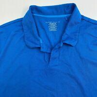 Perry Ellis Polo Shirt Mens XXL Blue Short Sleeve Casual