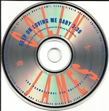 COLIN JAMES Keep on Loving Me Baby USA PROMO Radio DJ CD Single 1990 PRCD 3586