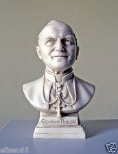 STATUA BUSTO BEATO GIOVANNI PAOLO II in polvere di alabastro (Marmo) 14 cm