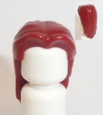 Lego Long Straight Hair x 1 Dark Red for Minifigure