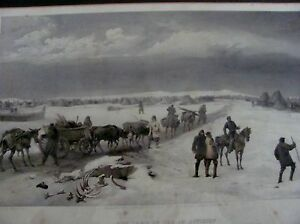 print of the  Boer war camp of 1st division w Simpson