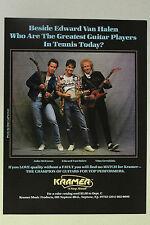 EDDIE VAN HALEN Kramer Guitars Full Page AD magazine clipping 1984 version #2