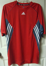Vintage Adidas Team Soccer Futbol Tennis Athletic Poly Shirt Size Adult Large