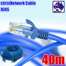 40M 131ft RJ45 CAT5 Ethernet LAN Network Cable Blue ENETW5001