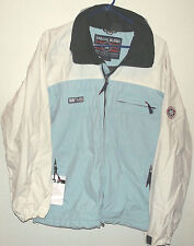 light blue waterproof nylon ski jacket by Special Blend size S