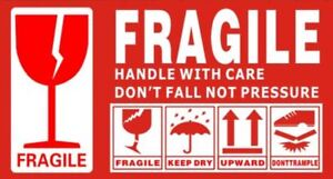 Fragile Handle With Care Label Sticker 130mm x 70mm