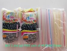 1 BOBA Black Tapioca Pearl Bubble~  Buy 2 get 1 pack of 50pc BOBA STRAW FREE