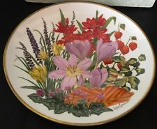 1978 Franklin Porcelain Flowers of the Year Plate Collection November Wedgwood