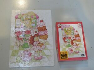 VINTAGE STRAWBERRY SHORTCAKE 100 PIECE PUZZLE BY ROSEART 1992 COMPLETE