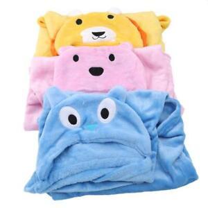 Cartoon Animal Baby Bath Towel Hooded Blanket Kids Infant Bathrobe Toddler C