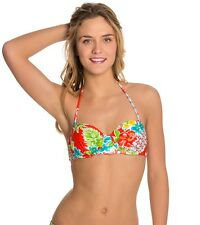 Bikini Lab Junior Women's Hot and Gold Underwire Bandeau Top Size Medium