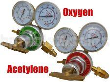 Solid Brass OXYGEN & ACETYLENE Regulators 4 Welding Fit Victor Gas Torch Cutting