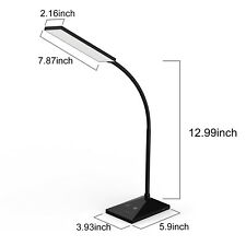 LED Table Desk Light Dimmable Memory Function 72 Leds Touch Sensor Reading Lamp