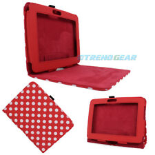 CASE COVER STAND POUCH POLYURETHANE RED WHITE DOT FOR AMAZON KINDLE FIRE HD 7""