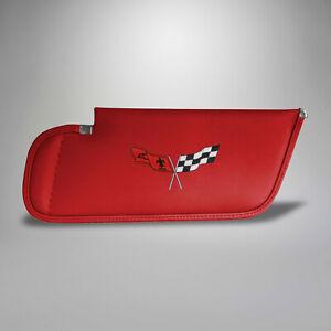 1977-1979 Corvette C3 Red Sunvisor Embroidered Logo 684229301