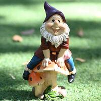 Courtyard Resin Garden Lawn Figurine Gnome Statue Dwarf Ornament Sculpture
