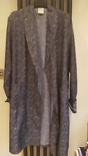 Vintage C & A CANDA Dressing Gown Smoking Jacket Silky Paisley Pattern Dark Blue
