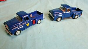 1:43 55 Chevy Road Champs 56 ford D&H Pickup Truck Toy Car Lot O scale.