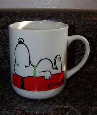 Vintage SNOOPY dog house Peanuts COFFEE BREAK ceramic mug c. 1958 JAPAN no chips
