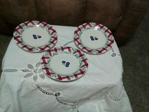 Princess House Set 3 Orchard Medley Accent Salad Desert Plates Replacements
