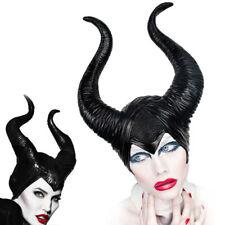 Halloween Hat Horns Cosplay Maleficent Evil Queen Headpiece Headwear Costume