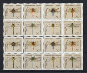 F-EX26409 GERMANY DDR MNH 1991 INSECT ENTOMOLOGY DRAGONFLY BLOCK 4.