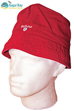 New Vintage BARBOUR Unisex ELBERT BUCKET Crusher Hat AUTHENTIC Red Small/Medium
