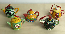 New listing Mary Engelbreit Me - Teapots Tea Pot Ornaments Lot Of 5