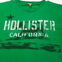 Single Stitch 90s Hollister California Men Short Sleeve T Shirt Medium M Green