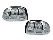 DEPO All Clear / Chrome Rear Tail Lights For 1994-1998 Ford Mustang V6 GT Cobra