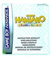 Notice jeu Nintendo Game Boy Advance Hamtaro Rainbow Rescue Instruction Booklet