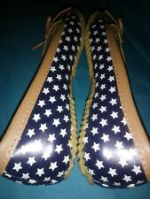 'WESTERN CHIEF' Women's Size 7, Red/ White & Blue, Flag-Skimmer-Navy Rain Shoes.