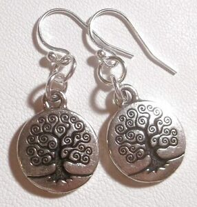 ~* Sundance Artisan *~ Tree of Life Charm & Sterling Silver Earrings