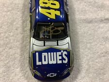 JIMMIE JOHNSON 2007 CHEVY LOWE'S VEGAS RACE WIN AUTOGRAPHED DIECAST & POSTCARD