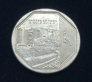 2016 Peru 1 Sol - KM# 396 | Cabeza de Vaca Commemorative Peruvian Coin