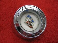 "Original 1960 1961 Buick ""Power Steering"" Chrome Horn Button 1164729 OEM GM Part"