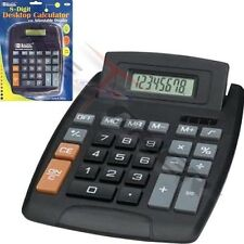 Large Jumbo Calculator Big Button 8-Digit Desktop Math Display Solar Battery