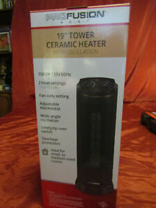 """Pro Fusion Heat FH-126A 19"""" Tower Ceramic Heater With Oscillation(2-628)"""