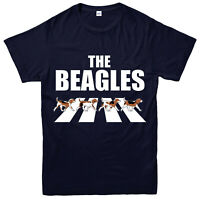 The Beagles T-shirt, Abbey Road Spoof, Funny Partywear Gift Top