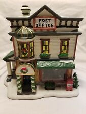 """Norman Rockwell Christmas figurine house. """" Sorting Mail """" Saturday Evening Post"""