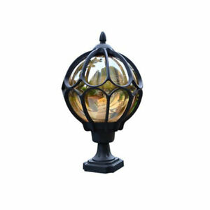 Outdoor Pillar lamp globe glass shade door post lamp waterproof antique lighting