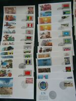 Lot of 110 United Nations First Day Covers FDC Collection Fleetwood
