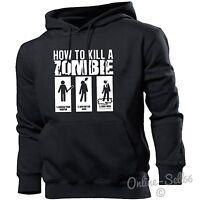 How To Kill A Zombie Hoodie Hoody Men Women Kids Funny