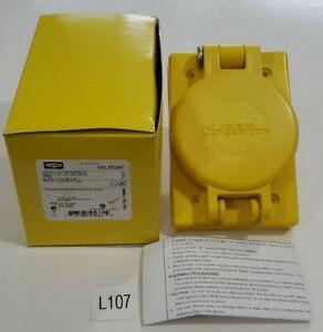 *NEW* Hubbell HBL65W47 20A Watertight Receptacle 15A 125V 2P/3W Nema L5-15 IP69k