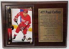 Detroit Red Wings Paul Coffey Hockey Card Plaque
